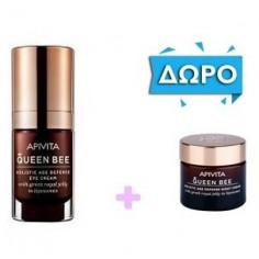 APIVITA QUEEN BEE HOLISTIC AGE DEFENSE Eye Cream 15ml & ΔΩΡΟ ΔΩΡΟ Night Cream 15ml