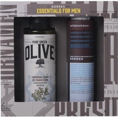 KORRES Pure Greek Olive Αφρόλουτρο με ελιά & κέδρο 250ml & After Shave με Καλέντουλα & Ginseng 200ml