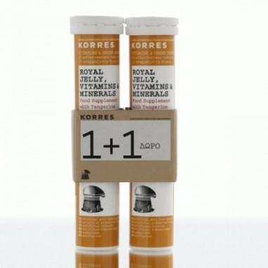 KORRES Συμπλήρωμα Royal Jelly , Vitamins & Minerals 18 eff.tabs 1+1 ΔΩΡΟ