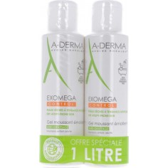 ADERMA Exomega CONTROL Gel moussant 2x500ml