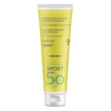 Korres Sport Face & Body Milk Suncare Spf50 200ml
