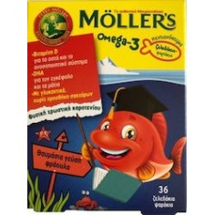 MOLLERS OMEGA-3 ΖΕΛΕΔΑΚΙΑ 36GUMS STRAWBERRY