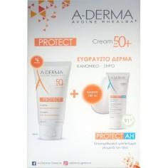A-Derma Protect Creme Tres Haute Protection SPF50+ 40ml & Protect AH Lait Reparateur Apres Soleil 100ml
