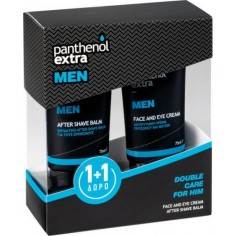 PANTHENOL EXTRA DOUBLE CARE FOR HIM Men Face & Eye Cream 75ml & Δώρο Men After Shave Balm 75ml