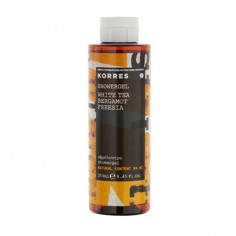 KORRES SHOWER GEL WHITE TEA  BERGAMOT  FREESIA 250ml