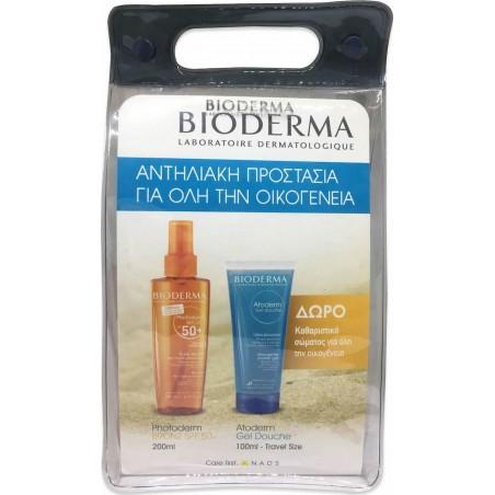 BIODERMA PHOTODERM HUILE SPF50+ 200ML & ATODERM GEL DOUCHE 200ML