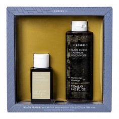 KORRES Set Black Pepper Cashmere Lemonwood Eau De Toilette 50ml&Αφρόλουτρο 250ml