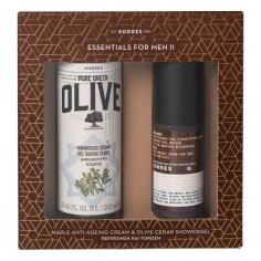 KORRES Set MAPLE Αντιρυτιδική Ανδρική Κρέμα 50ml &Greek Olive Αφρόλουτρο Κέδρος 250ml