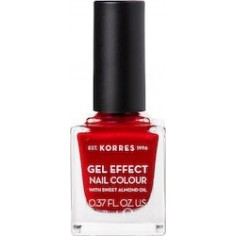 KORRES GEL EFFECT NAIL COLOUR No54 MELTED RUBIES 11mL