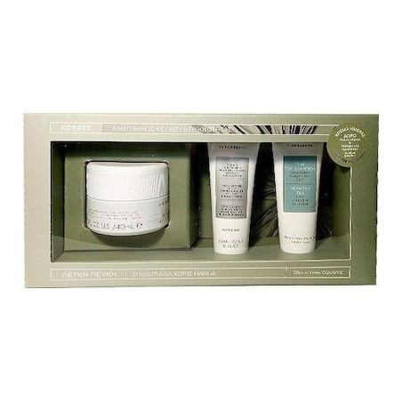 Korres Promo Pack Korres White Pine Day Cream 40ml  & Night Cream 16ml Κρέμα Νύχτας &Τσάι του Ολύμπου Γαλάκτωμα Καθαρισμού 16ml