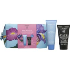 APIVITA AQUA BEELICIOUS Cream Light 40ml & ΜΑΥΡΟ GEL ΚΑΘΑΡΙΣΜΟΥ 50ml PROMO BAG