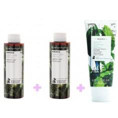 KORRES SHOWER GEL MINT TEA 2Χ250ml  & Γαλακτωμα Σωματος Πρασινο Τσαι 200ml