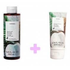Korres Coconut Water Shower Gel 250ml & Korres Coconut Water Body Milk 200ml