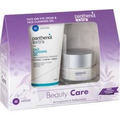 PANTHENOL EXTRA Set Αντιρυτιδική Κρέμα 24h Face & Eye 50ml & Face Cleansing Gel 150ml