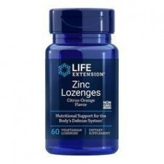 LIFE EXTENSION ZINC Natural citrus-orange 18,75mg 60 Lozenges