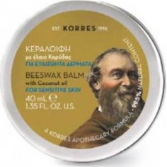 Korres Beeswax Balm With Coconut Oil For Sensitive Skin 40ml