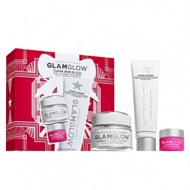 GLAMGLOW SET CLEAR SKIN IN 3,2,1 SUPERMUD 50g + SUPERCLEANSE 150g & GLOWSTARTER 15g