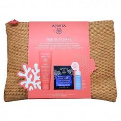 APIVITA SUN BEE SAFE Face Cream Anti Spot 50spf 50ml & Aqua Beelicious Booster 10ml & Sea Lavender Express Mask ΔΩΡΟ