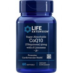 LIFE EXTENSION SUPER ABSORBABLE  CO Q10 D -LIMON 50MG 60SOFTGELS