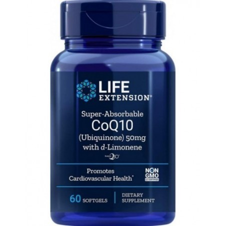 LIFE EXTENSION SUPER ABSORBABLE  CO Q10 D -LIMON 50MG 60softcaps
