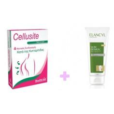 SET HEALTH AID CELLUSITE 60 VEGITABS + ELANCYL SLIM DESIGN 45+ 200ML