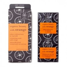 APIVITA EXPRESS BEAUTY MASK WITH ORANGE 2x8ml