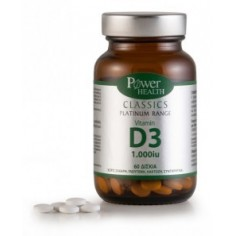 POWER Classics Platinum - Vitamin D3 1000 IU  60 tablets