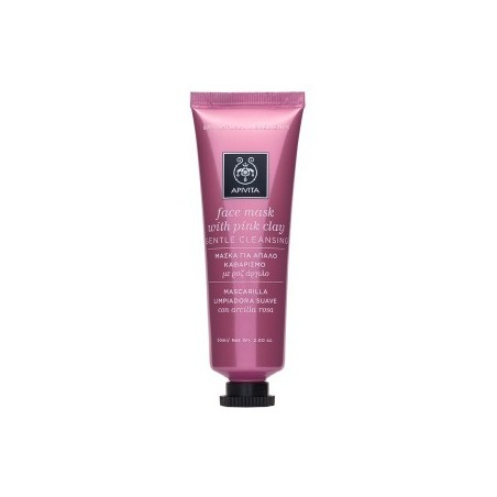 APIVITA Μάσκα για απαλό καθαρισμό με ροζ άργιλο 50ml