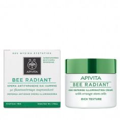 APIVITA BEE RADIANT κρέμα αντιγήρανσης και λάμψης πλούσιας υφής 50ml