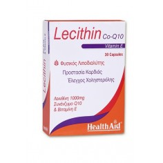 HEALTH AID LECITHIN 1000mg.+Co-Q-10+Vit.E 30caps