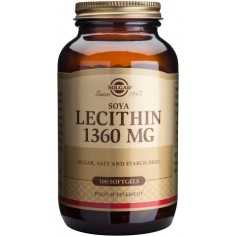 SOLGAR LECITHIN  1360mg softgels 100caps