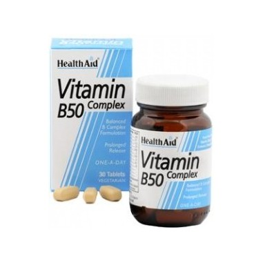 HEALTH AID VIT. B50 Complex 30 tablets