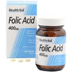 HEALTH AID FOLIC ACID 400μg. 90 tablets