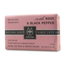 APIVITA Natural Soap ROSE&BLACK PEPPER 125gr.