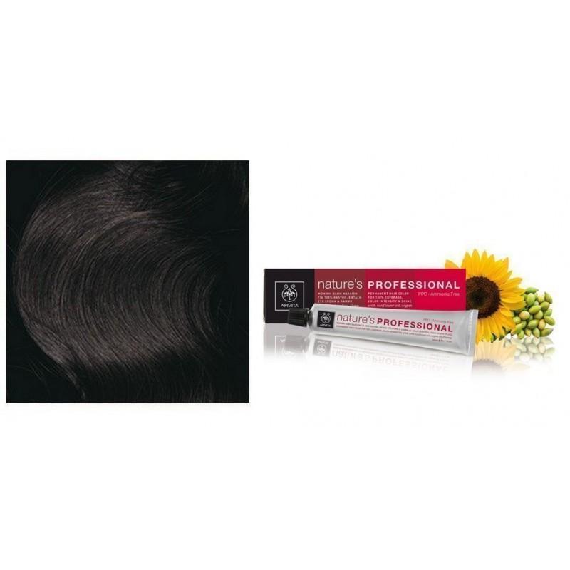 APIVITA NATURE S HAIR COLOR Professional 3.0 DARK BROWN 50ml fb6358a39cb
