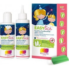 REAL CARE EASY LICE KIT (SHAMP 125ml+LOTION 125ml+ΧΤΕΝΑΚΙ)