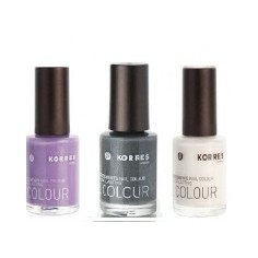 KORRES NAIL COLOUR BAZAAR 2015 SET2 3x nail polish