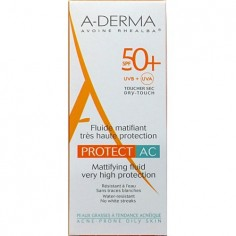 ADERMA SUN PROTECT FACE Fluide Matifiant AC 50+spf 40ml