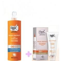 ROC SOLEIL Fluid Anti-Wrinkle Smoothing 50+spf & SOLEIL LAIT HYDRATANT 200ml