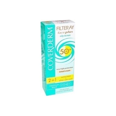 COVERDERM FILTERAY FACEPLUS DRY/SENSITIVE SKIN LIGHT BEIGE SPF50+ 50ml