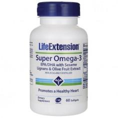 LIFE EXTENSION SUPER OMEGA  3 EPA /DHA SESAME LIGNANS 60 softgels