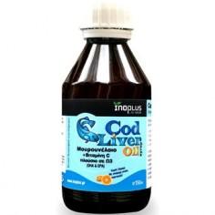 INOPLUS COD LIVER OIL ΜΟΥΡΟΥΝΕΛΑΙΟ + VIT C 150ml
