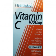 HEALTH AID VIT. C 1000mg  (Μασσώμενη) 30 tablets