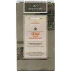KORRES HAIR DYE CEDAR MEN'S 4.0 NATURAL DARK GREY