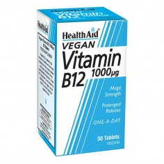 HEALTH AID VIT. B12 1000μg  50vegetabs