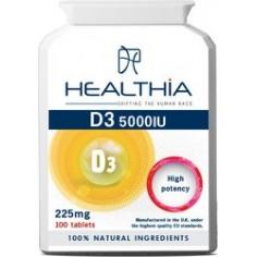 HEALTHIA D3 5000IU - 225mg  100caps
