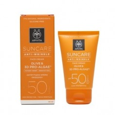 APIVITA SUN FACE CREAM SPF 50 ANTI-WRINKLE OLIVE 50mL
