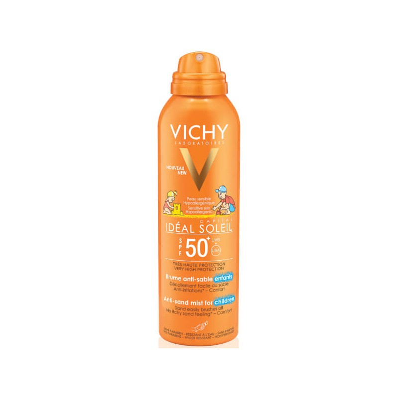 54ee79280a VICHY IDEAL SOLEIL 50+ ANTI-SAND SPRAY KIDS 200mL