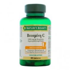 Nature's Bounty Βιταμίνη C 1000mg με Αγριοτριανταφυλλιά 60 tabs