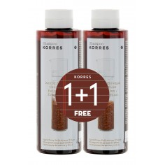 KORRES SHAMPOO RICE PROTEINS AND LINDEN 1+1 ΔΩΡΟ 2x250mL